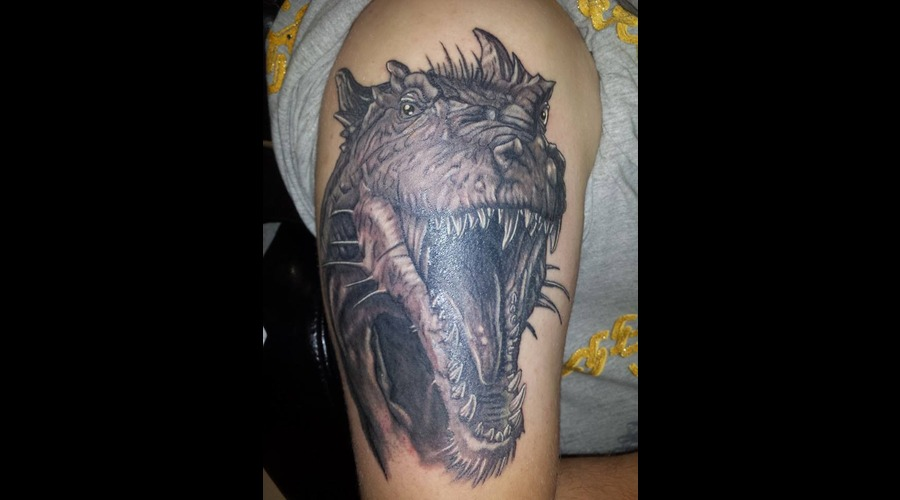 Dragon Black Grey Arm