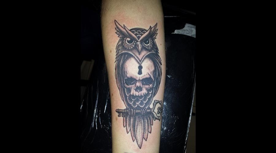 Owl Skull Forearm