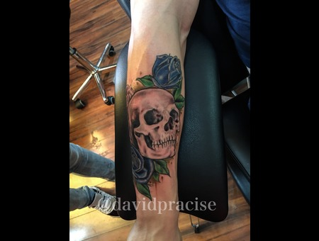 Skull And Roses Forearm