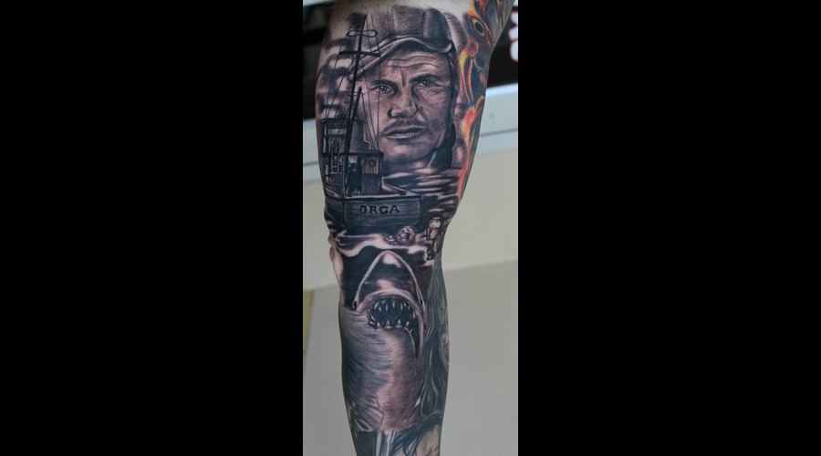 Jaws  Portrait  Black Grey Arm