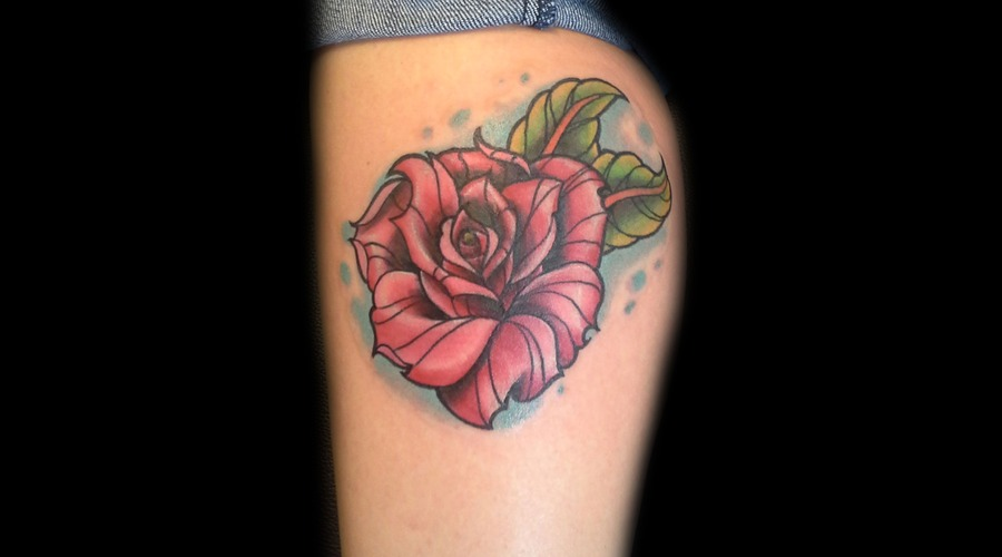 Rose Color Lower Leg