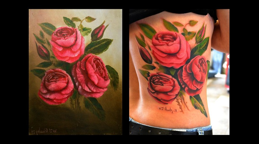Realism  Painting  Pink Ribs