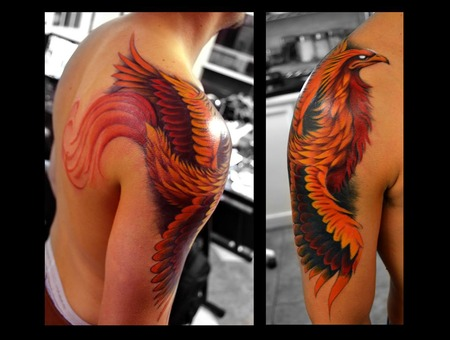 Phoenix  Bird  Freehand  Colorado Shoulder