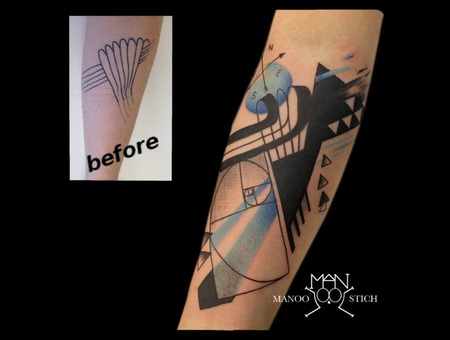 Coverup  Abstract  Lines  Geometric Arm