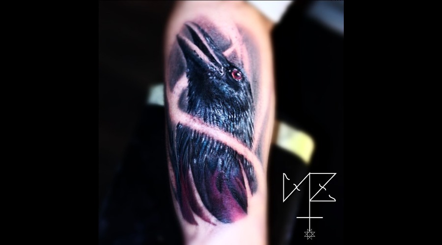 Crow Realism Color Forearm