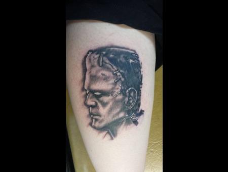 Frankenstein  Horror  Black N Grey  Portrait  Realism Thigh