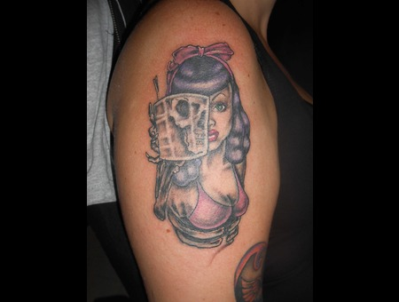 Skull  Girl  Zombie Arm
