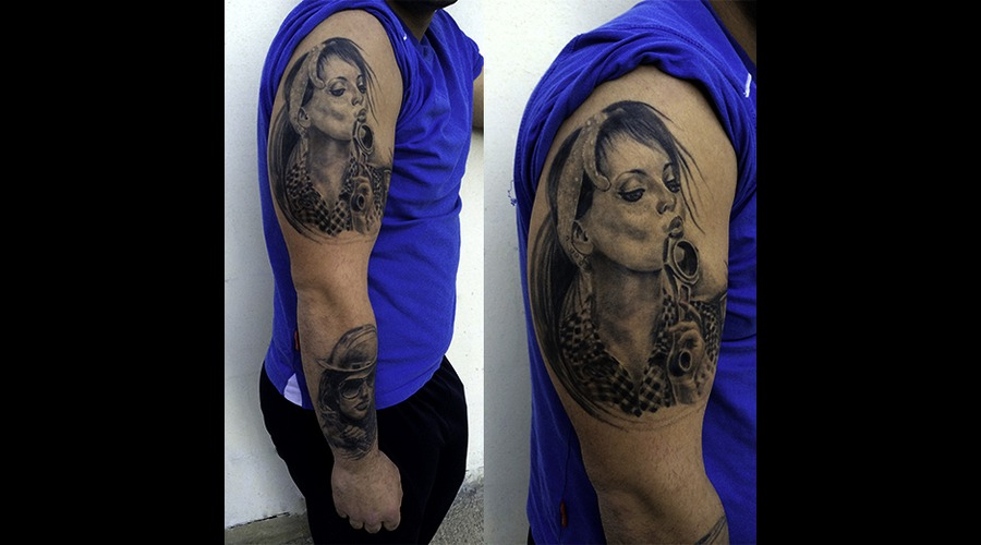 Black And Grey . Realistc Tattoos  Pin Up  Portraits Arm