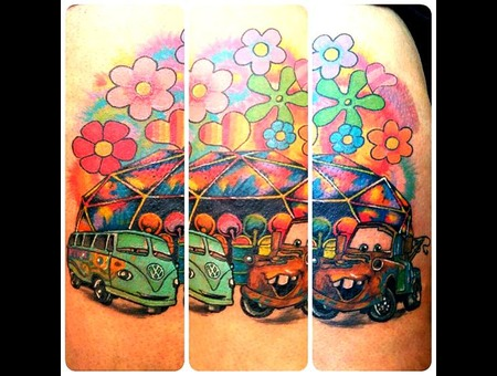 Cars Disney Hippy Tiedye Colour Crazy Mater Filmore Thigh