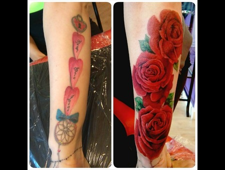 Coverup Roses Colour  Forearm