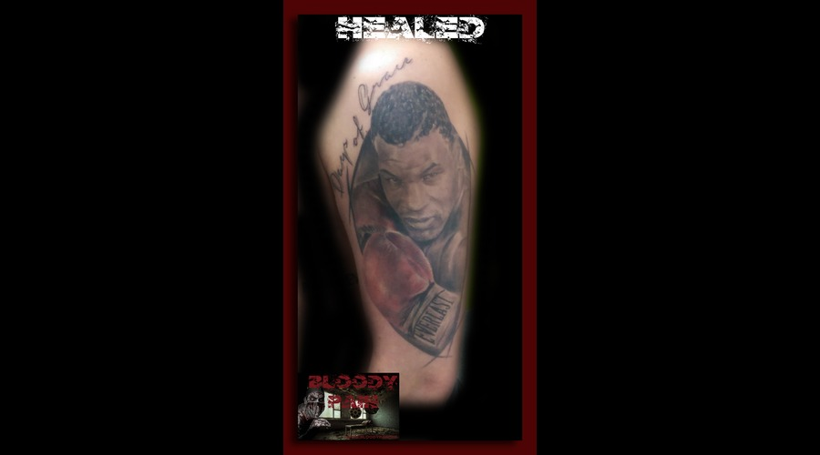 Mike Tyson  Portrait  Realistic   Arm