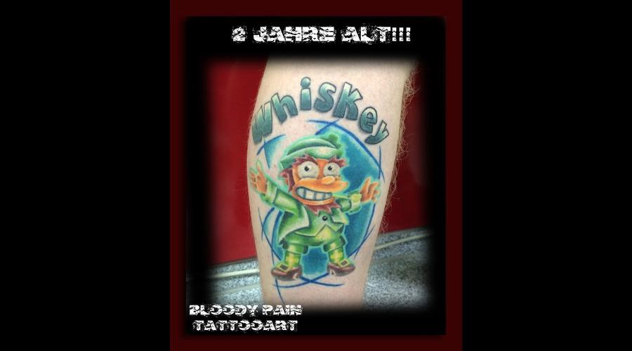 Simpsons  3d Tattoo Lower Leg