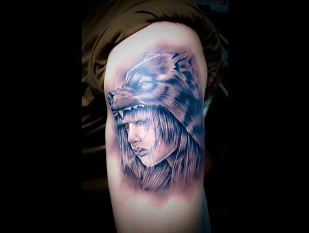 Fantasy Warrior Girl Arm