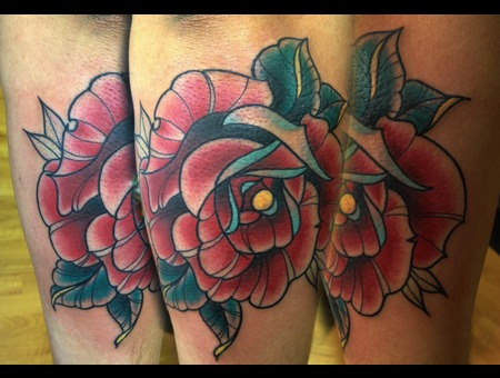 Rose  Tattoo  Traditional Color