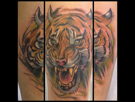 Tiger  Tattoo  Neotraditional Color