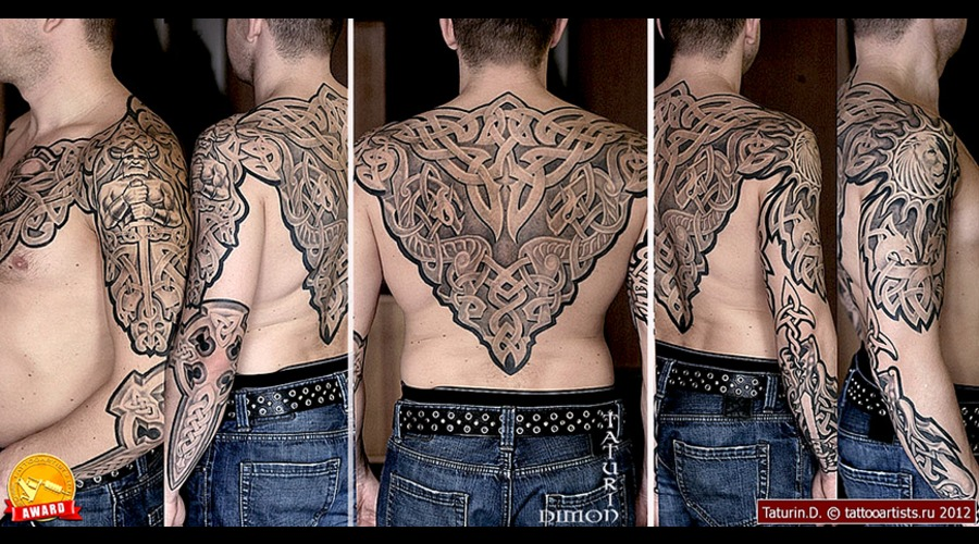 Celtic Tattoo By Dimon Taturin Back