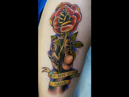 Rose  Tattoo  Hand  Banner Color