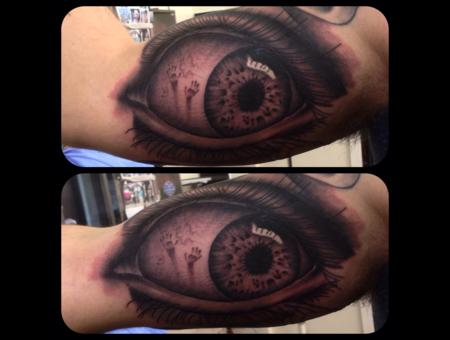 Realism Eye Eye Tattoo  Arm