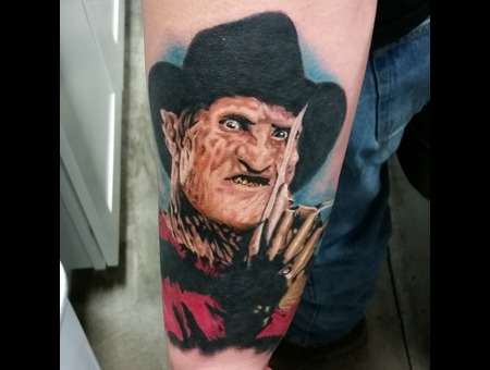 Freddy  Horror  Movie  Portrait Forearm