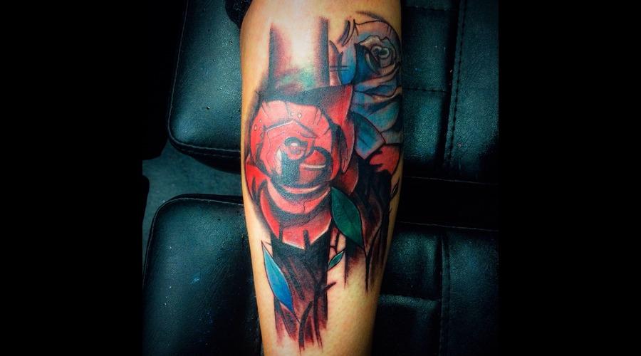 Rose  Watercolour  Lower Leg