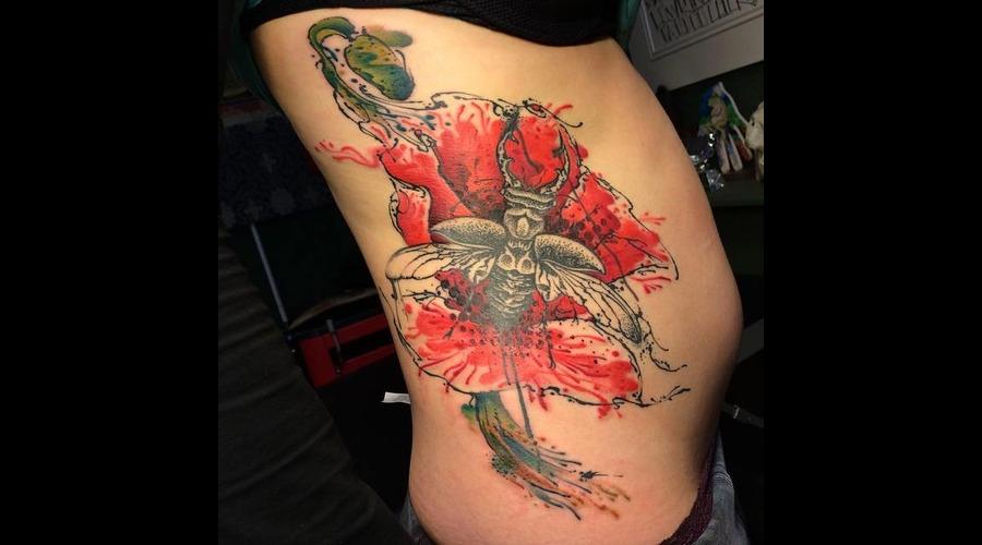 Tattoo  Trash  Art  Ribs