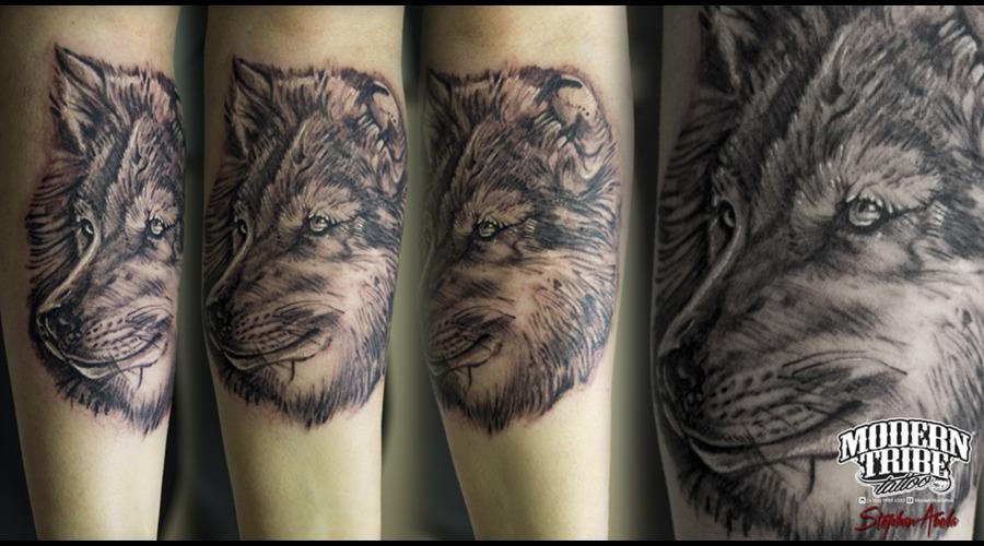 Grey Wolf Forearm