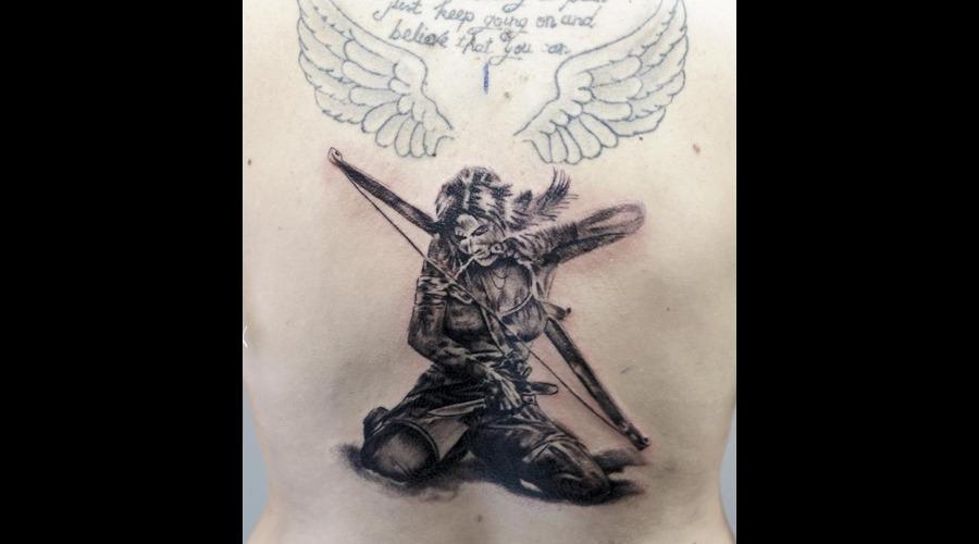 Warrior Tattoo Back