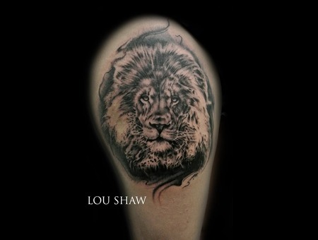 Lion  Portrait  Realism  Photo Realistic  Cat  Black And Grey  Thigh