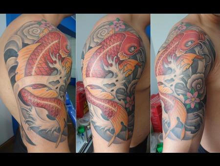 Koifish  Oriental Tattoo  Koi  Karpa Japonesa Arm