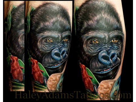 Gorilla @Haley Adams Tattoo Arm
