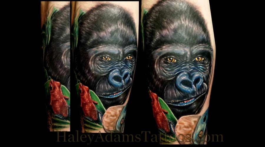 Gorilla @Haley Adams Tattoo Arm