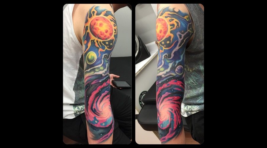 Space  Galaxy  Colour  Colour   Arm