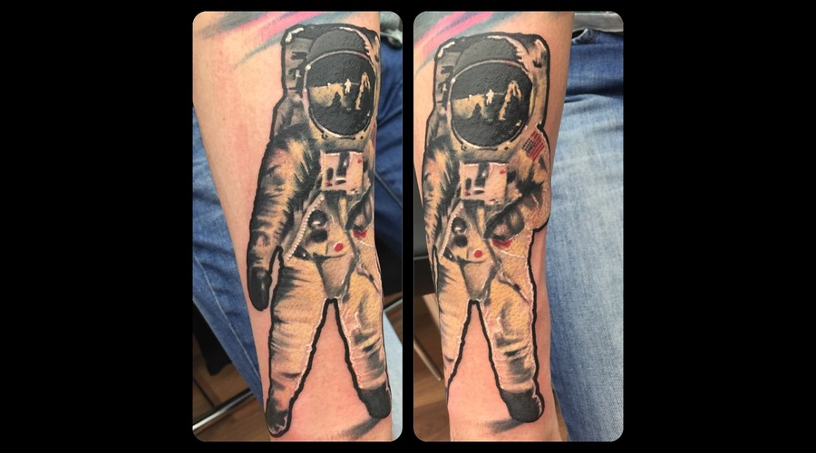 Astronaut  Color  Colour  Sleeve  Space  Galaxy Forearm