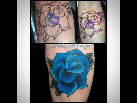Coverup  Color  Rose  Traditional  Custom Forearm