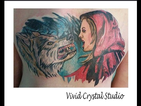 Fairytale Redridinghood Wolf Back