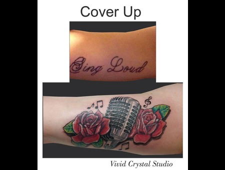 Coverup Microphone Roses Arm