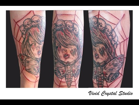 Horror Moth Spiderweb Forearm