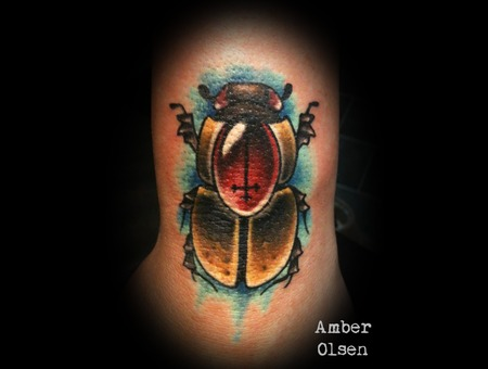 Bug  Insect  Beetle  Color  Neo Traditional  Inverted Cross  Gem   Color
