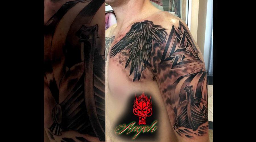 Viking Half Sleeve By Angelo Arm
