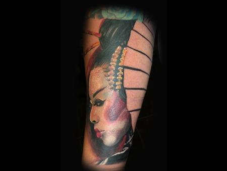 Lil Geisha Portrait Forearm