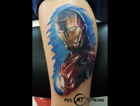 Tattoo  Ironman  Ink  Miketarquino Lower Leg