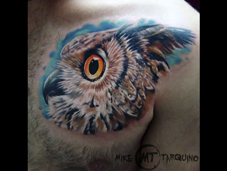 Mike Tarquino  Tattoo  Ink  Owl