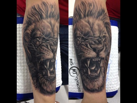 Lion. Mike Tarquino  Tattoo