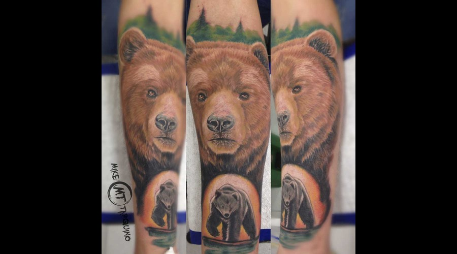 Bear  Ink  Tattoo  Oso  Mike Tarquino