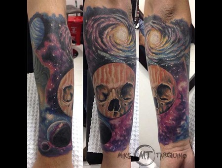 Space  Skull  Tattoo  Mike Tarquino
