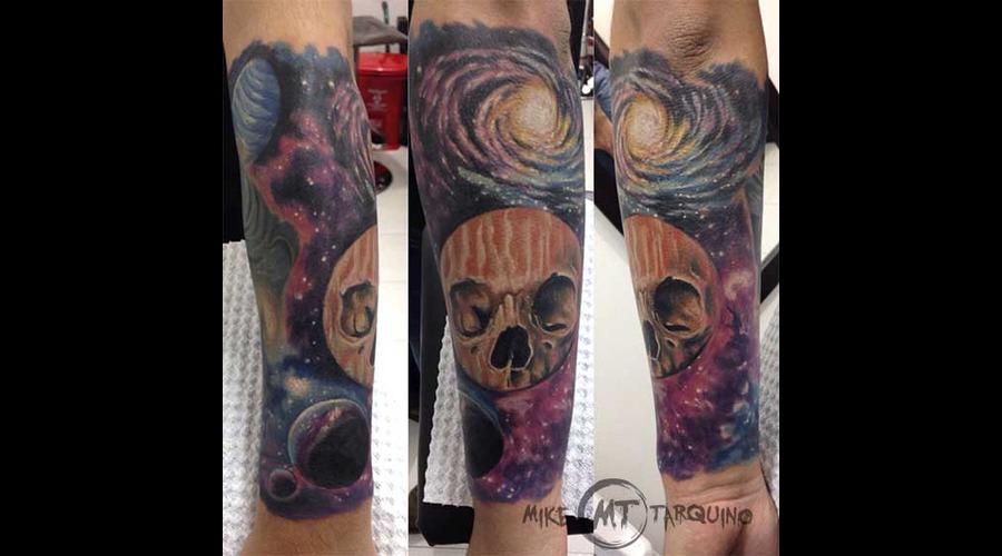 Space  Skull  Tattoo  Mike Tarquino