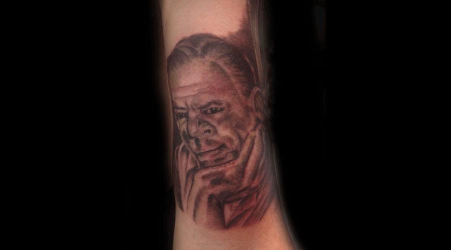 Portrait  Grandfather  Black  Grey Black Grey Forearm
