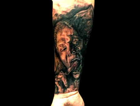 Dracula  Darkprince  Portrait  Black&Grey Forearm