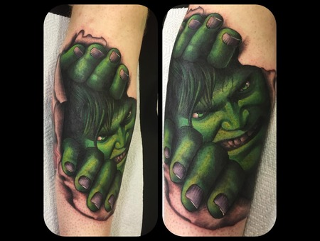 Hulk Incredible Hulk Ripped Skin Torn Skin Marvel Marvel Tattoo Avengers Lower Leg