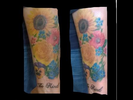 Realism Flowers Forearm
